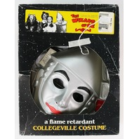 Vintage Collegeville 50th anniversary Tin Man Wizard of Oz Halloween Mask Costume In Box