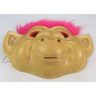 Vintage Troll Doll Halloween Mask Hair Pink Rubies 1992 Y085