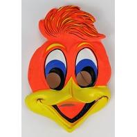 Vintage Woody Woodpecker Halloween Mask Mel Blanc Universal Studios
