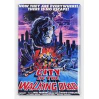 City of the Walking Dead Movie Poster FRIDGE MAGNET 70's Zombie Horror Flick