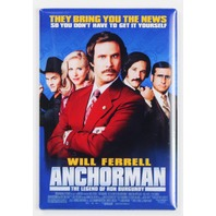 Anchorman Movie Poster FRIDGE MAGNET Anchor Man Comedy Funny Will Ferrell