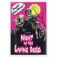 Night Of The Living Dead Movie Poster FRIDGE MAGNET Zombies Romero Uncut