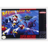 snes  Mega Man X Video Game FRIDGE MAGNET Nintendo Arcade NES