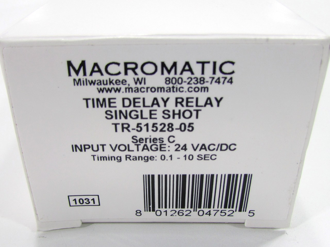 NEW MACROMATIC TR-51528-05 TIME DELAY RELAY, DPDT, 10SEC, 24VAC/DC