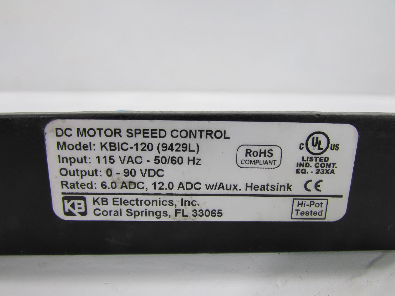 KB KBIC-120 (9429L) DC MOTOR SPEED CONTROL | eBay