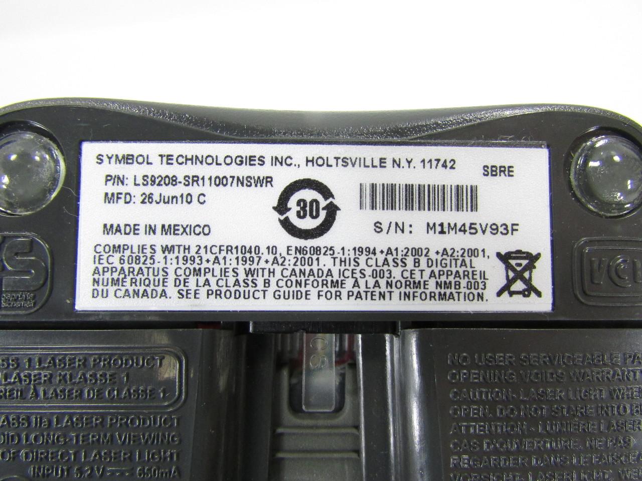 Symbol Ls9208 Sr11007nswr Barcode Scanner W Cradle Premier
