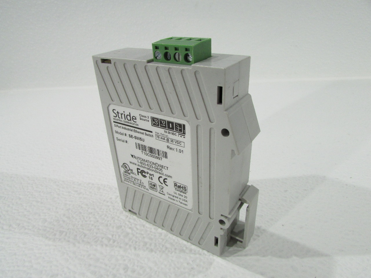 AUTOMATION DIRECT SE-SW5U PLC DIRECT STRIDE 5-PORT ETHERNET SWITCH