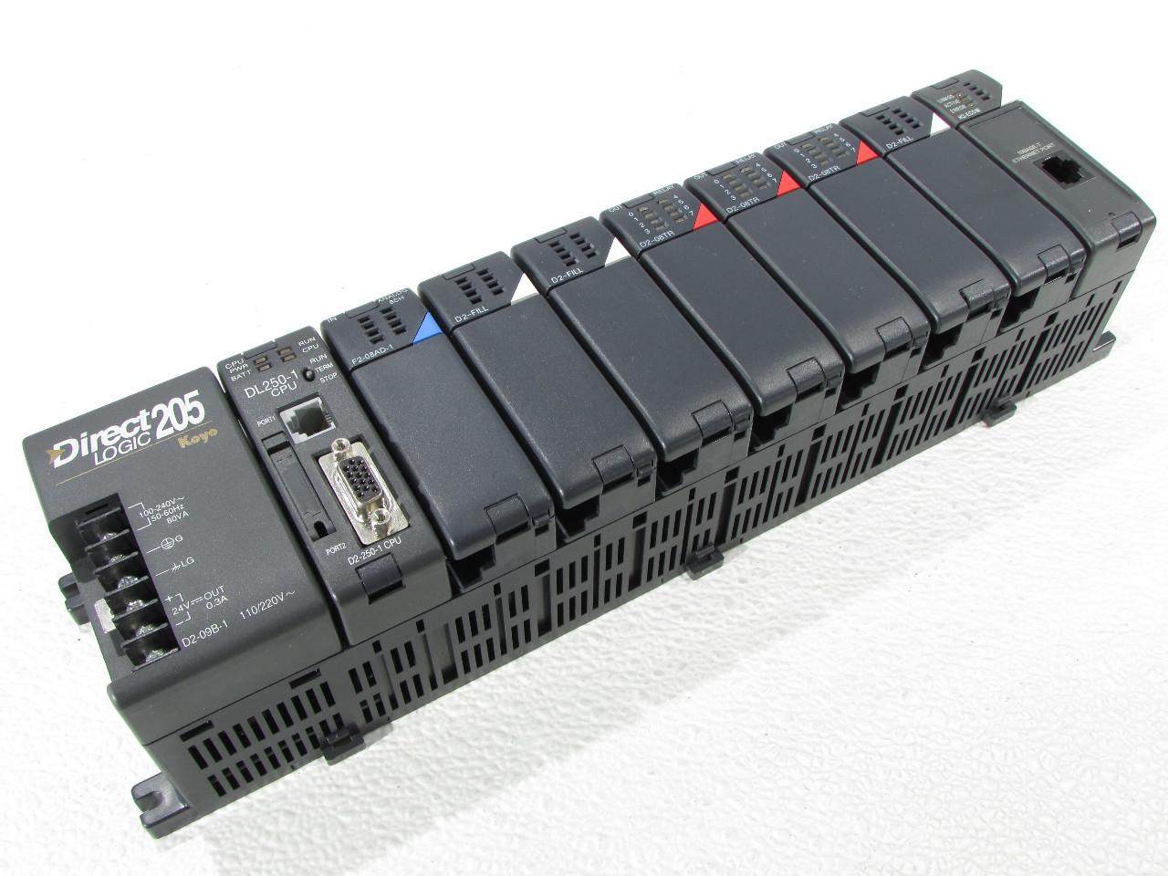 Details about * AUTOMATION DIRECT PLC DIRECT LOGIC 205 D2-09B-1 SLOT RACK  DL-250-1 F2-08AD-1 D
