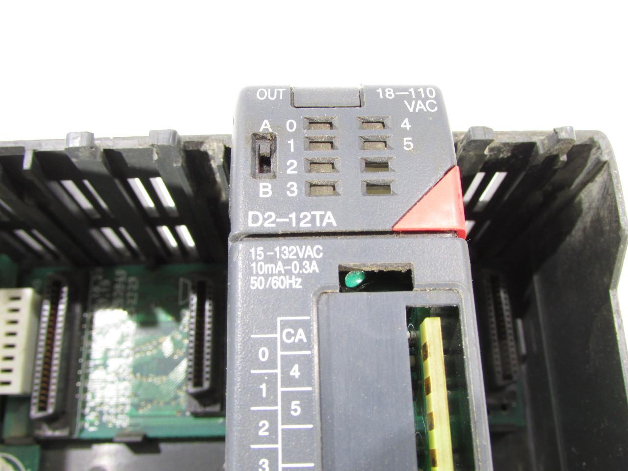 Details about AUTOMATION DIRECT PLC DIRECT D2-04B RACK 4SLOT 110/220VAC