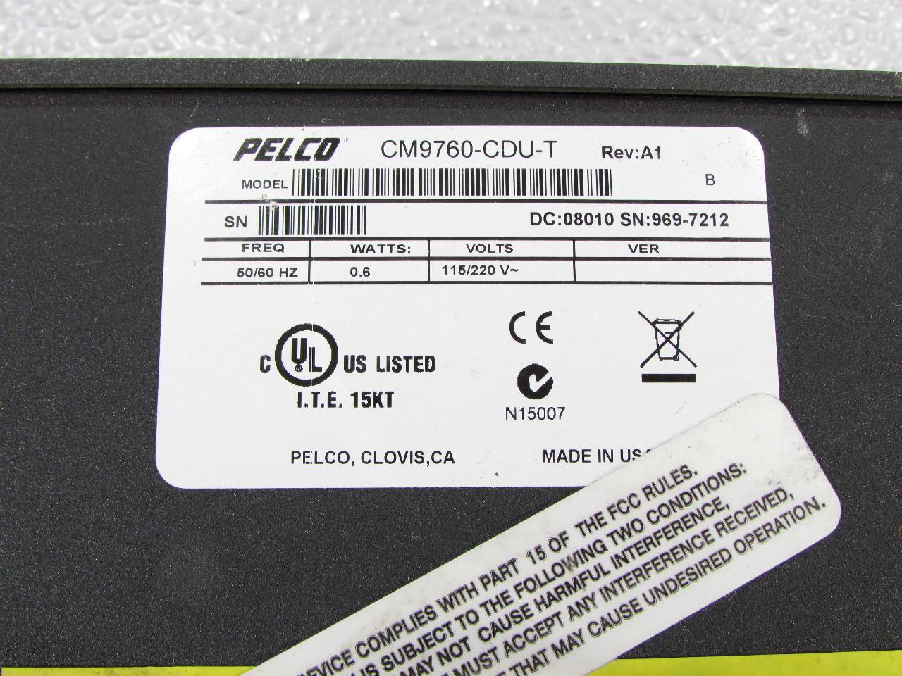 Pelco Cm9760 Cdu T Matrix Code Distribution Unit Premier