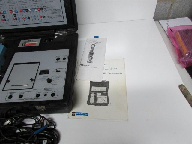 * DIGITAL COPE OF TWO MANUALS OF ESTERLINE ANGUS PMT POWER MASTER III B A.C. MOTOR LOAD SIRVEYOR w/ CASE