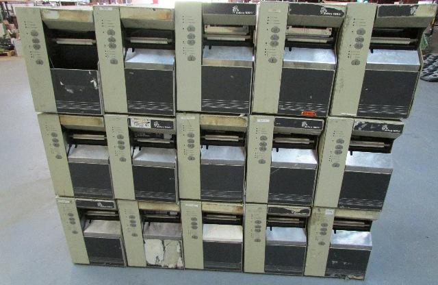 LOT OF 22 ZEBRA 105SE THERMAL LABEL PRINTER 105-511-0000