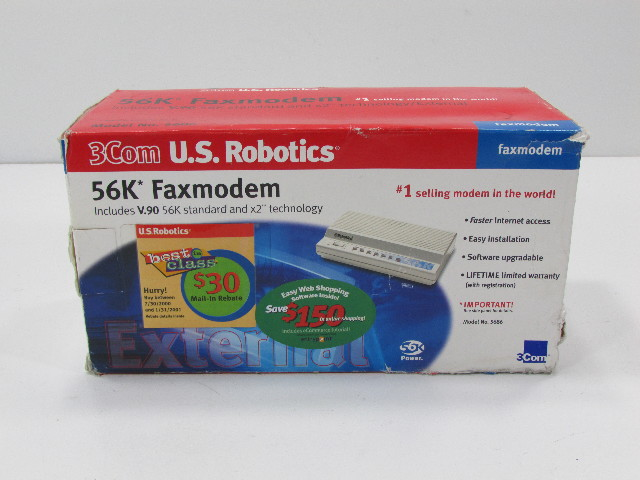 NEW - 3M ROBOTICS 56K FAXMODEM MODEL 5686