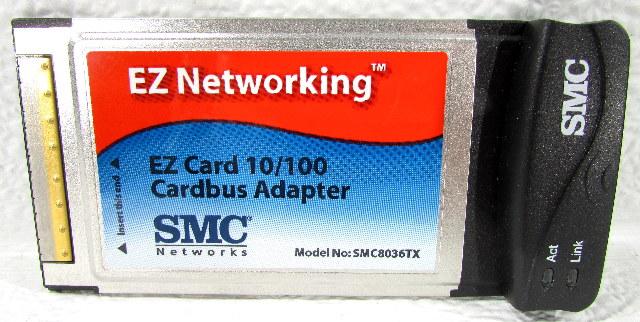 * SMC NETWORKS EZ NETWORKING SMC8036TX CARDBUS ADAPTER 10/100