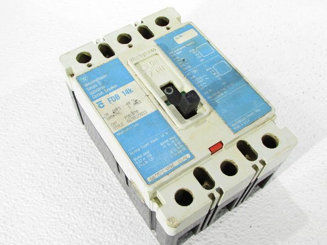 WESTINGHOUSE FDB3070 CIRCUIT BREAKER 70AMP 3POLE 600VAC 14KA 480VAC