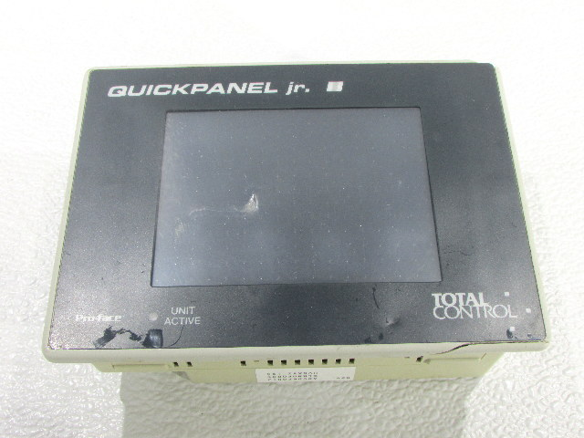 * TOTAL CONTROL QUICKPANEL jr. PRO-FACE OPERATOR INTERFACE
