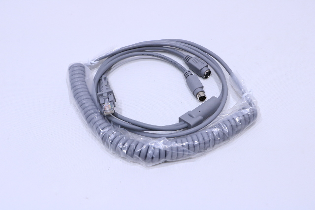NEW DATALOGIC CAB-365 90A051360  ADC CABLE IBM MINIDIN CONNECTOR COILED