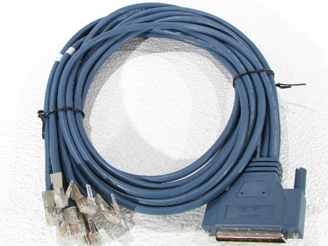 NEW CISCO CAB-OCTAL-ASYNC= 8 LEAD OCTAL CABLE 68 PIN TO 8 MALE RJ