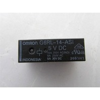 NEW OMRON G6RL-14-ASI 5VDC 10A PLUG IN POWER RELAY