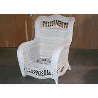 ~ Ethan Allen Wicker Chair Patio Outdoor or Indoor