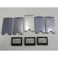 LOT OF FIVE BLACKBERRY BATTERY COVERS AND THREE BATTERIES 03087-003