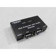BLACK BOX  VGA EXTENDER WITH AUDIO REMOTE