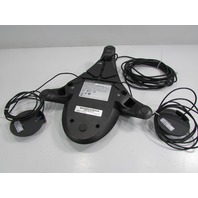 POLYCOM SOUND STATION 2 EXPANDABLE 2201-16200-601 w/ 2201-07155-601 CONFERENCE PHONE SYSTEM