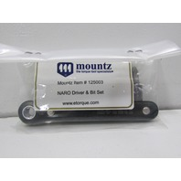 NEW MOUNTZ NARO RATCHET DRIVER AND BIT SET P/N125003