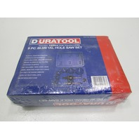 NEW DURATOOL 9 PC BI-METAL HOLE SAW SET P/N D00260