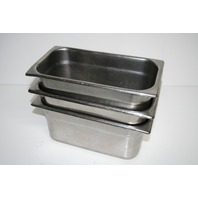 """* LOT OF 3 STAINLESS STEEL MEDICAL INSTUMENT TRAYS 12-1/2""""X7""""X6"""""""