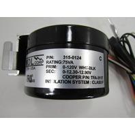 NEW MDL 315-0124 RADIATOR COOLING FAN MOTOR 75VA 0-120V
