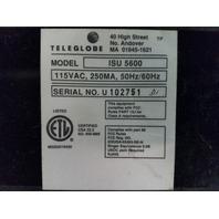 LOT OF (8) TELEGLOBE ISU 5600 COMBINED CHANNEL/DATA SERVICE UNIT