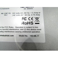 HOPE INDUSTRIAL SYSTEMS HIS-ML17-STAF OPERATOR LCD TOUCH SCREEN