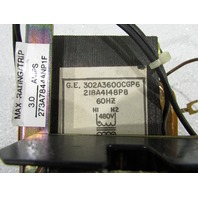 GENERAL ELECTRIC GE 302A3600CGP6 TRANSFORMER .25KVA 120/480V 60HZ