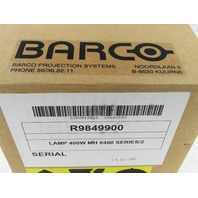 BARCO PROJECTOR LAMP R9849900 692 HOURS ONLY 400W MH 6400 SERIES/2