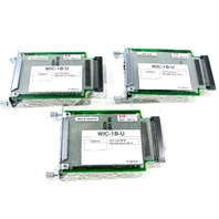 LOT OF (3) CISCO WIC 1B U CARDS