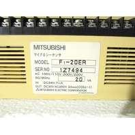 * MITSUBISHI F1-20ER PLC EXPANSION UNIT 10 IN / 10 OUT RELAY