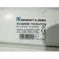 NEW EATON CUTLER HAMMER K3-62K00110 CIRCUIT BREAKER DIN RAIL 110-120V 50/60HZ