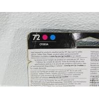 NEW HP 72 DESIGNJET C983A MAGENTA AND CYAN  COLOR INKJET CARTRIDGE