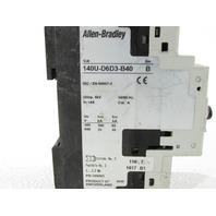 ALLEN BRADLEY 140U-D6D3-B40 CIRCUIT BREAKER 3-POLE 4 A UL 489