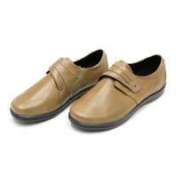 * NEW APEX A832WW12 LINDA WOMANS 12 W TAUPE CLASSIC MONK STRAP LEA SHOES