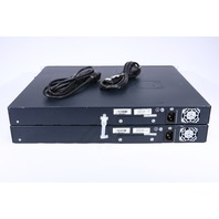 LOT OF 2 JUNIPER SSG-320M-SH SECURE SERVICES 4-PORT SECURITY APPLIANCE W/ RACK EARS