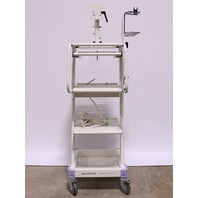 * OLYMPUS COMPACT TROLLEY MOBILE WORKSTATION CART W/ MONITOR ARM