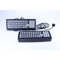 LOT OF 2 HONEYWELL 9372-00546-012/A P/N 60KEY PS-2 RUGGED KEYBOARD