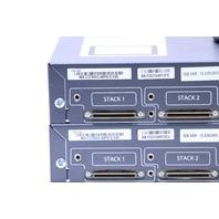 LOT OF (2) CISCO WS-C3750V2-48PS-S V08 PoE-48 ETHERNET SWITCH