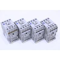 LOT OF (4)  ALLEN BRADLEY 100-C09KJ300 IEC 9 A CONTACTOR