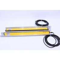 LEUZE LUMIFLEX  ET-30-600 ER-30-600 TRAINSMITTER AND RECEIVER  620MM 24VDC