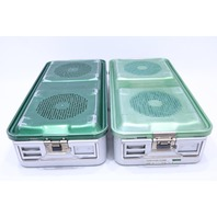 * QTY. (1) AESCULAP DBP JN441 STERILIZATION CONTAINER CASE 21-3/4 x 10-1/4 x 5""