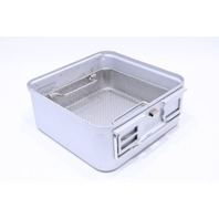 * AESCULAP DBP STERIL STERILIZATION CONTAINER CASE W/ BASKET 10-1/4 x 10-1/4 x 3-3/4""