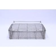 """* AESCULAP STERILIZATION WIRE BASKET 18-1/2 x 5 x 8-3/4H"""" 12-1/2"""" to the TOP"""